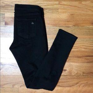 Rag & Bone skinny black jeans. Size 26.